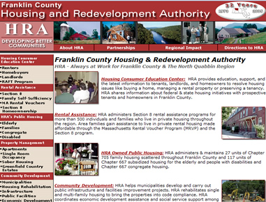 Western Mass Housing Authority - Rileyinteractive developed three websites and provided hosting and management sdervices