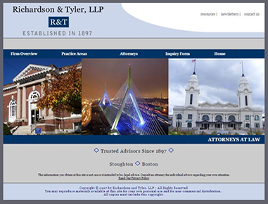 A Massachusetss Law Firm Website Developed and Managed by Rileyinteractive Web Design Services