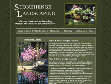 Rileyinteractive provides hosting and website management services for this Western Massachusetts Landscaping and Custom Stonework Website
